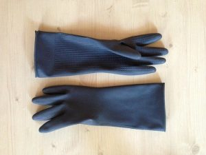 rubber gloves for getting rid of pet hair